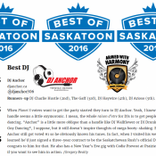 3 Armed With Harmony DJs, Dj Anchor, Dj Haywire, Arioso Voted As Best Saskatoon DJ By Planet S Magazine