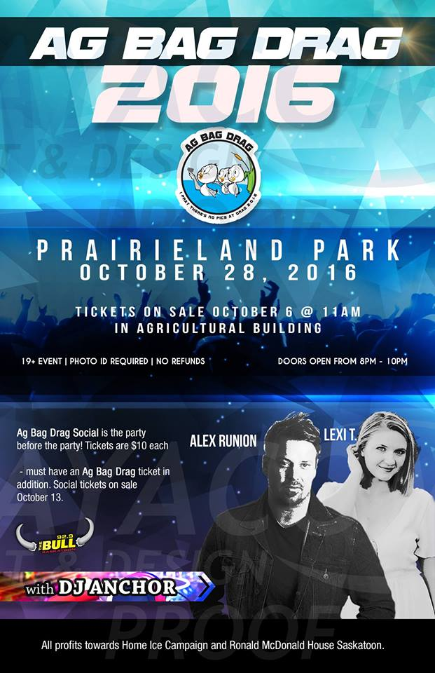 Ag Bag Drag 2016 w/ Alex Runions Lexi T & Dj Anchor Armed With Harmony Friday Oct 28th Prairieland Park - Image 1
