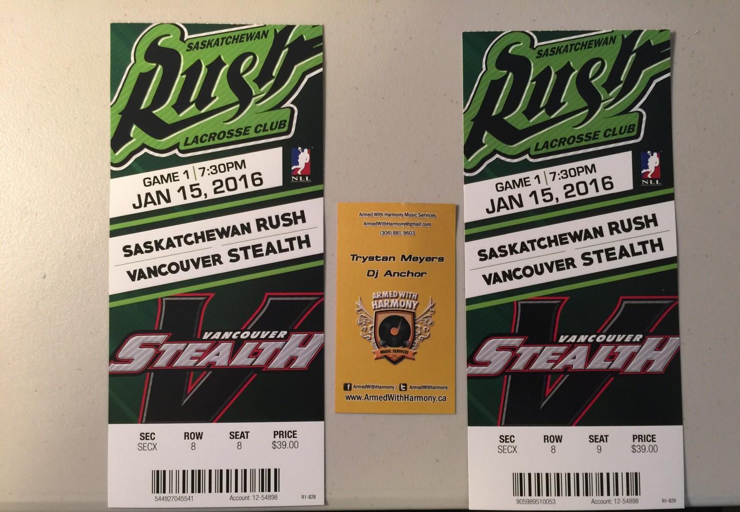 Free Tickets To Saskatchewan Rush Lacross Saskatoon