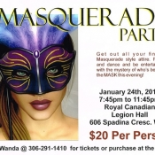 Masquerade Party Jan 24th