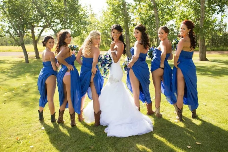 New Cheeky Trend In Saskatoon Wedding Photos? - Image 1