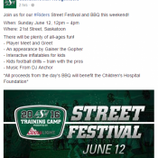 Saskatchewan Roughriders Street Festival w/ Dj Anchor of Armed With Harmony & 96.3 Cruz FM