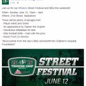 Saskatchewan Roughriders Street Festival w/ Dj Anchor of Armed With Harmony & 96.3 Cruz FM
