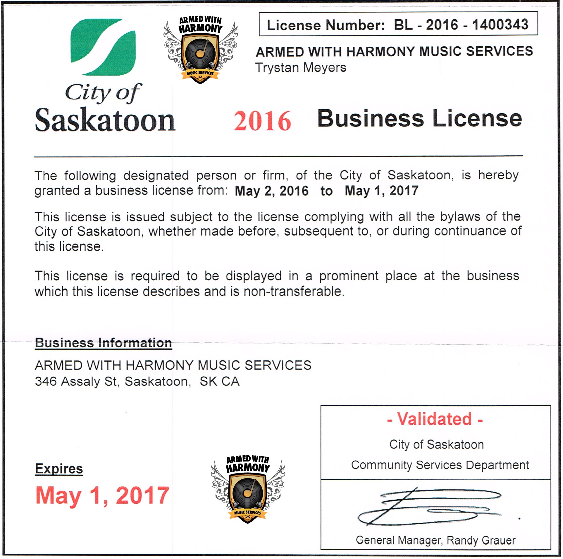 Saskatoon DJ & Photo Booth Company Armed With Harmony! We are a Registered, Liability Insured, Trustworthy, Canadian Disc Jockey Association Approved 100% Legal Company - Image 1
