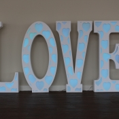 LED Light Up Marquee LOVE Letters