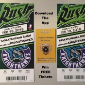 Win 2x FREE Tickets To The Next Saskatchewan Rush Home Game