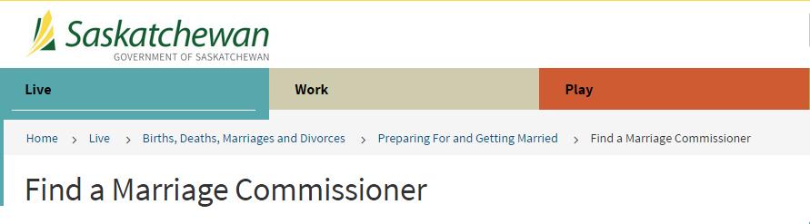 Saskatoon Marriage Commissioner
