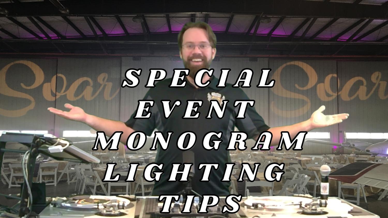 Saskatoon Monogram Lighting Rentals - Gobos For Wedding & Special Events. Name In Lights Tips