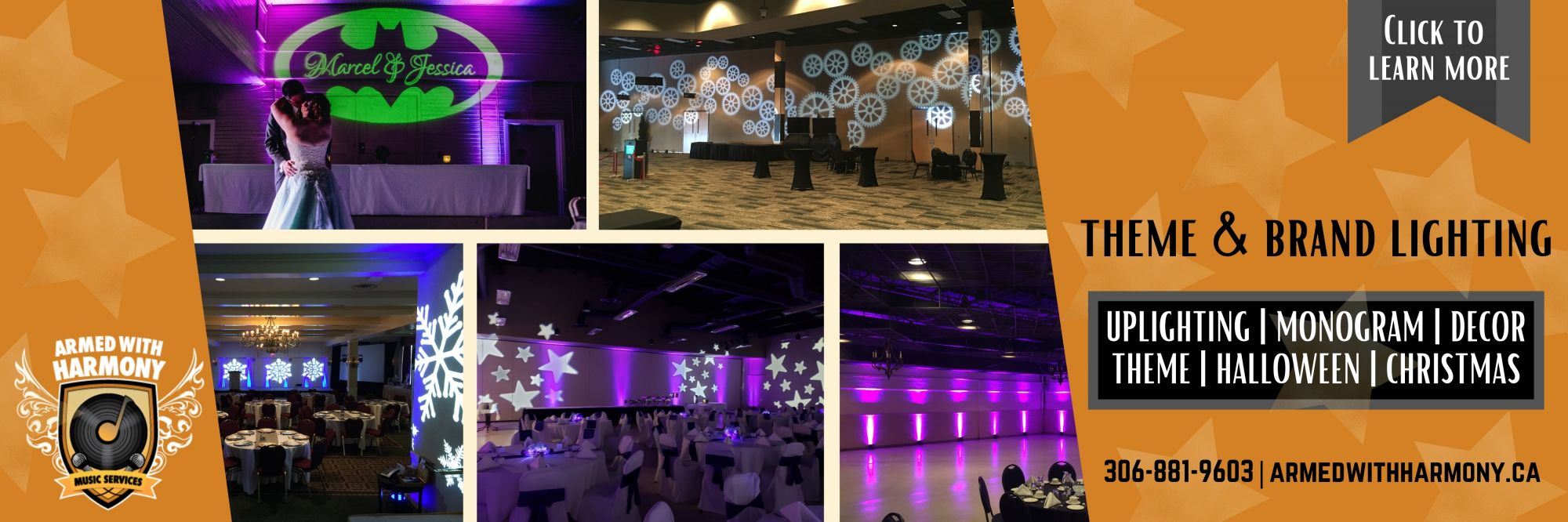 Armed With Harmony  | Saskatoon Wedding DJs, Photo Booths, Outdoor Movies & Event Production