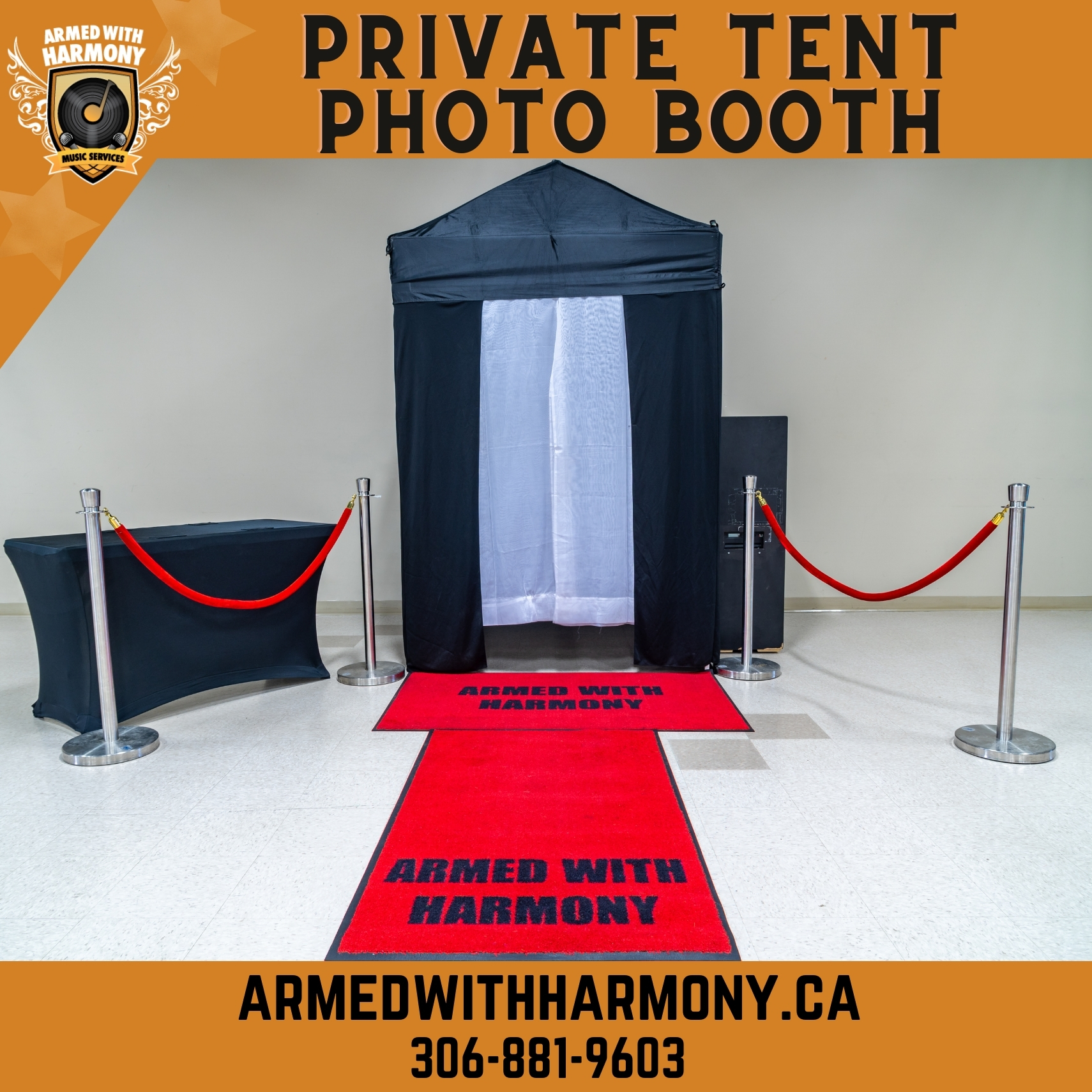 Saskatoon YXE Private Enclosed Tent Photo Booth Rentals Private Enclosed Tent Photo Booth